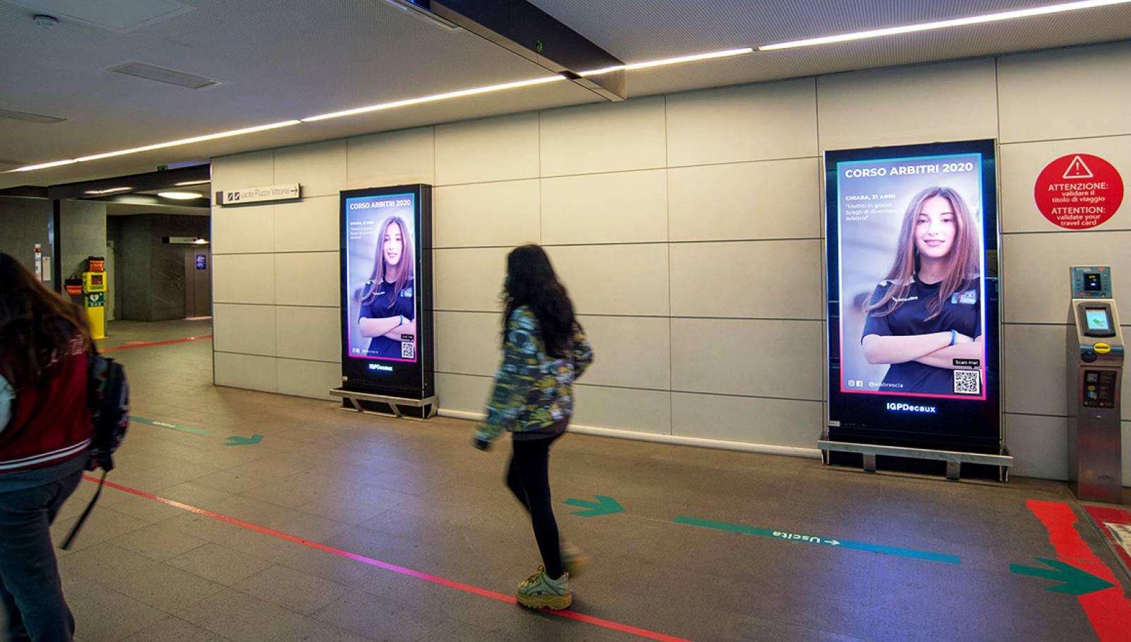 pubblicità in metropolitana a Brescia Network Vision IGPDecaux