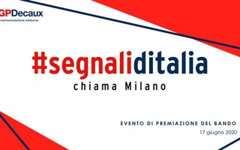 """Bando """"Segnali d'Italia chiama Milano"""": mercoledì 17 giugno l'evento di premiazione"""