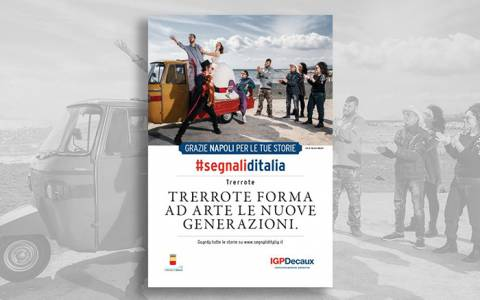 The Segnali d'Italia thanks campaign by IGPDecaux in on air in Parma and Naples