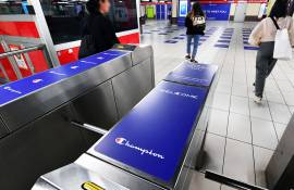 IGPDecaux OOH advertising a Milano Station Domination per Champion