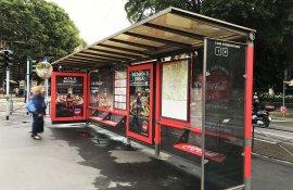 Coca-Cola DeGustibus brand shelter Milano