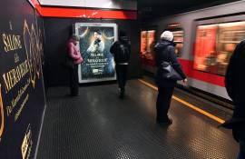 IGPDecaux station domination in Milan for Discovery Channel