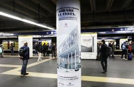Pubblicità metropolitana Roma IGPDecaux station domination per Città del Sole
