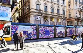 IGPDecaux Out of Home tram decorato a Milano per L'Erbolario