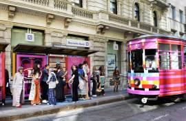 Comunicazione esterna IGPDecaux Creative Solutions tram decorato per M Missoni