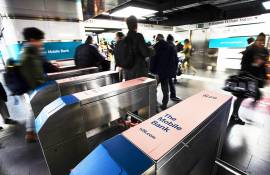 Underground advertising IGPDecaux Station Domination in Rome for N26