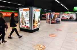 Campagna OOH a Milano IGPDecaux Station Domination per OBI Italia Milano Centrale