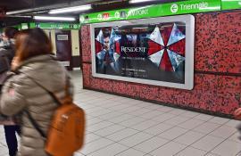 Pubblicità in metropolitana IGPDecaux Milano circuito a copertura landscape per Warner Bros