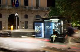 OOH advertising IGPDecaux Milano brand pensiline per Tom Ford