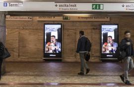LUFTHANSA LINEE AEREE LUFTHANSA -  17/10/2016 - circuito digital metro - ROMA