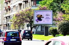 Outdoor advertising IGPDecaux in Turin Senior for Bauli