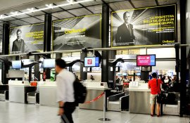 Malpensa Airport advertising airport Dominations at Linate for CheBanca!