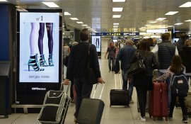 Pubblicità aeroporto Linate circuito digital per Sergio Rossi IGPDecaux