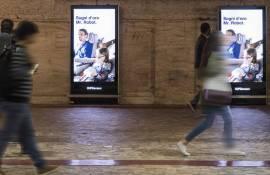 Underground advertising in Rome Underground Vision Network for Lufthansa