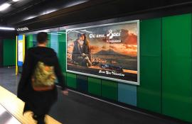 Underground advertising Landscape Coverage Network in Naples for Perugina IGPDecaux