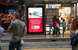 Pubblicità pensiline Milano IGPdecaux Network Vision per Casa.it
