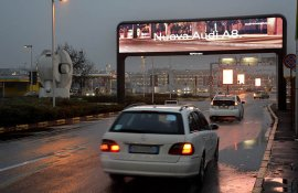 IGPDecaux Out of Home Digital Gate Linate for Audi