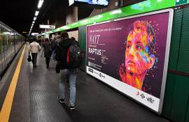 OOH advertising IGPDecaux Landscape Coverage Network in Milan for Sony