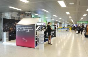 Airport advertising IGPDecaux Exhibition Areas at Malpensa for Jaguar