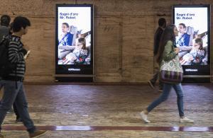 Pubblicità metro Roma IGPDecaux Circuito Digital Metropolitana per Lufthansa