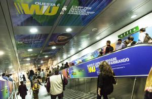 Underground advertising IGPDecaux Rome Area/Station Domination for Western Union