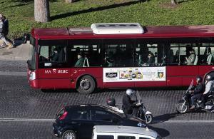 Pubblicità su autobus IGPDecaux Tabella 300x70 per Lidl a Roma