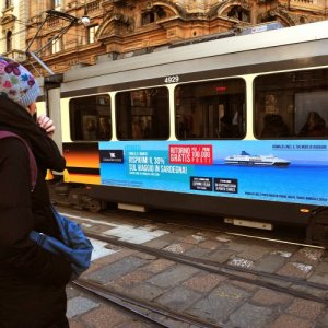 Out Of Home IGPDecaux Landscape Stickers in Milan for Grimaldi Lines