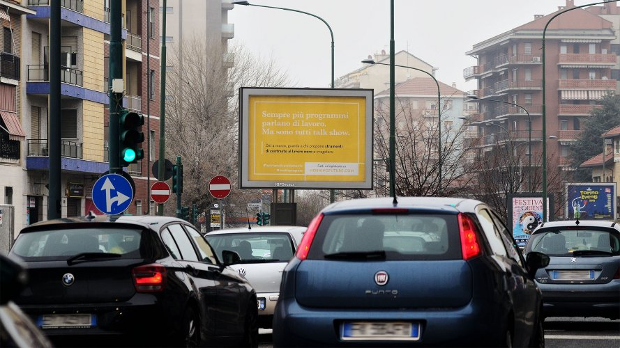 Out of Home advertising IGPDecaux in Turin Senior for Adecco