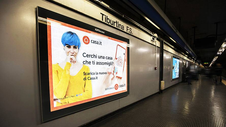 Out of Home advertising in Rome IGPDecaux Landscape Coverage Network for Casa.It