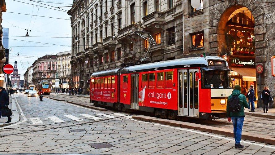 Pubblicità Milano IGPDecaux Full-Wrap per Calligaris