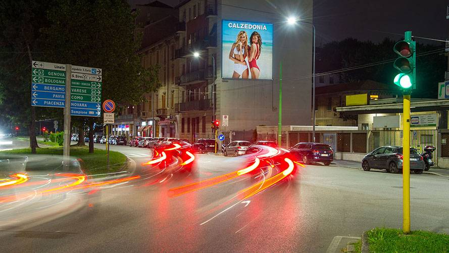Advertising billboards IGPDecaux Milan poster for Calzedonia