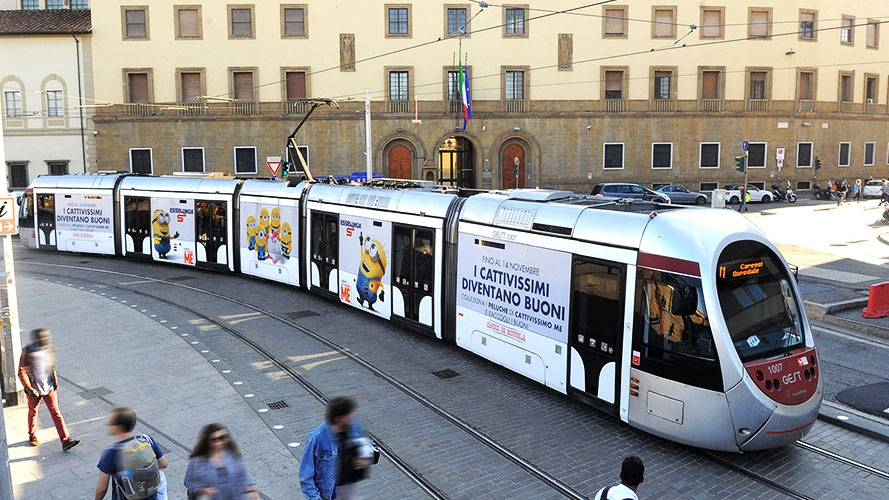 OOH advertising IGPDecaux Full-Wrap for Esselunga in Florence