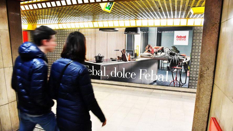 Pubblicità metro Milano IGPDecaux Circuito a Copertura Landscape per Febal