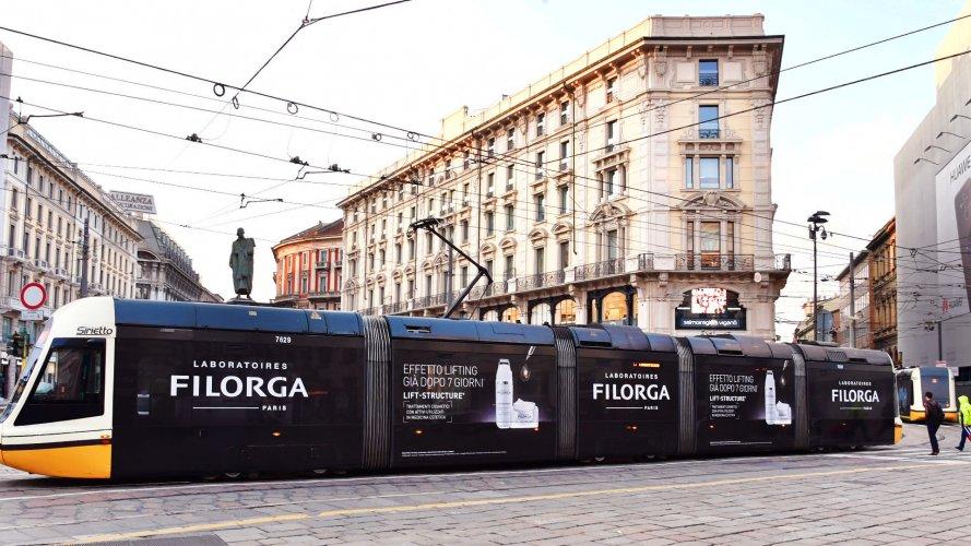 Pubblicità Milano IGPDecaux Full-Wrap per Filorga