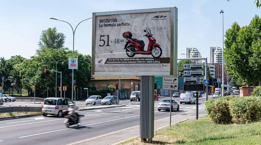 IGPDecaux Out of Home Senior a Bologna per Honda Motor