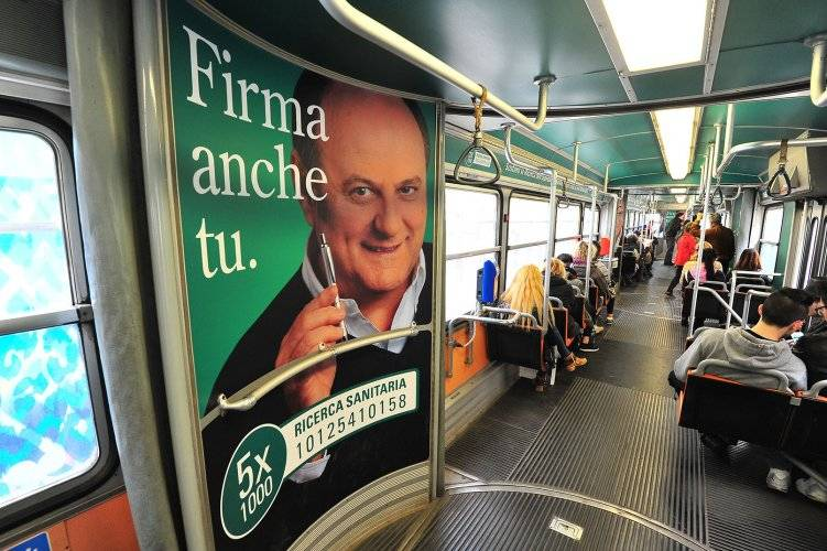 OOH IGPDecaux Exterior transit - Vehicles' Interior in Milan for Humana Ospital