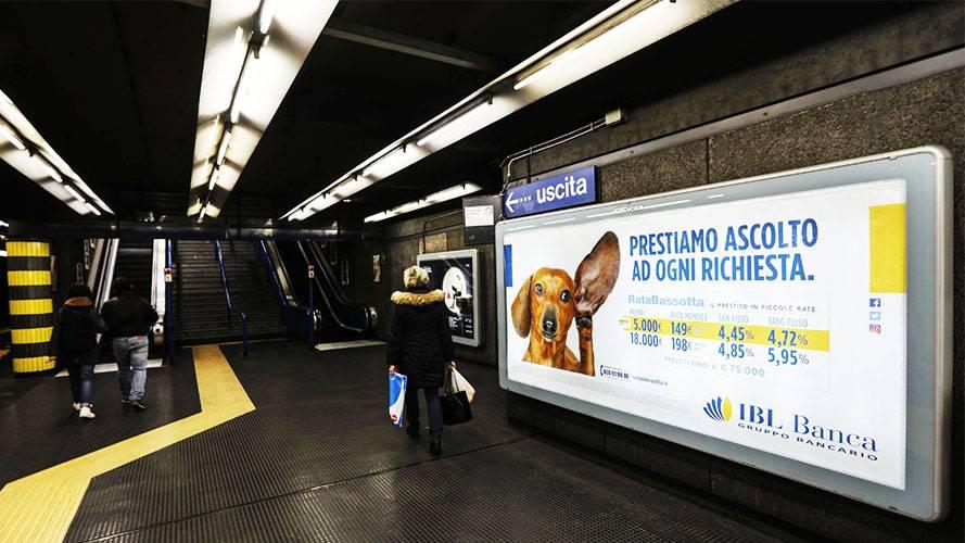 Pubblicità in metropolitana a Roma IGPDecaux Circuito a Copertura Landscape per IBL