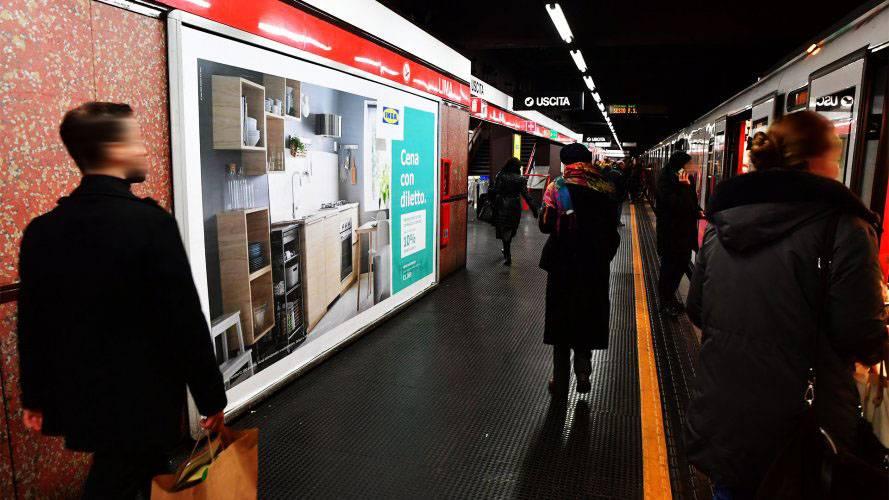 Pubblicità metropolitana milanese IGPDecaux Circuito a Copertura Landscape per Ikea Kitchen