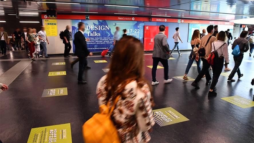 Pubblicità in metropolitana IGPDecaux a Milano Station Domination per Mondadori