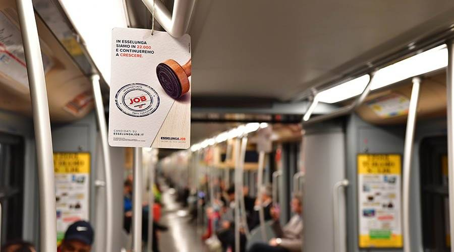 Out Of Home advertising Underground - Vehicles' Interior in Milan for Esselunga