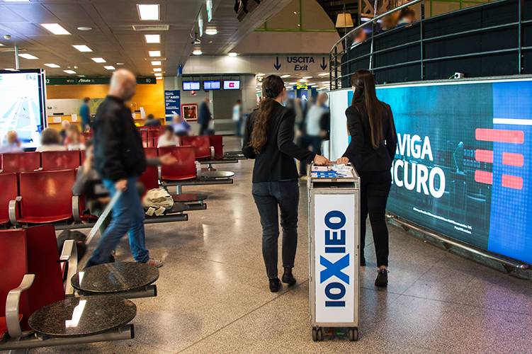 Linate airport advertising IGPDecaux Sampling for Ieo