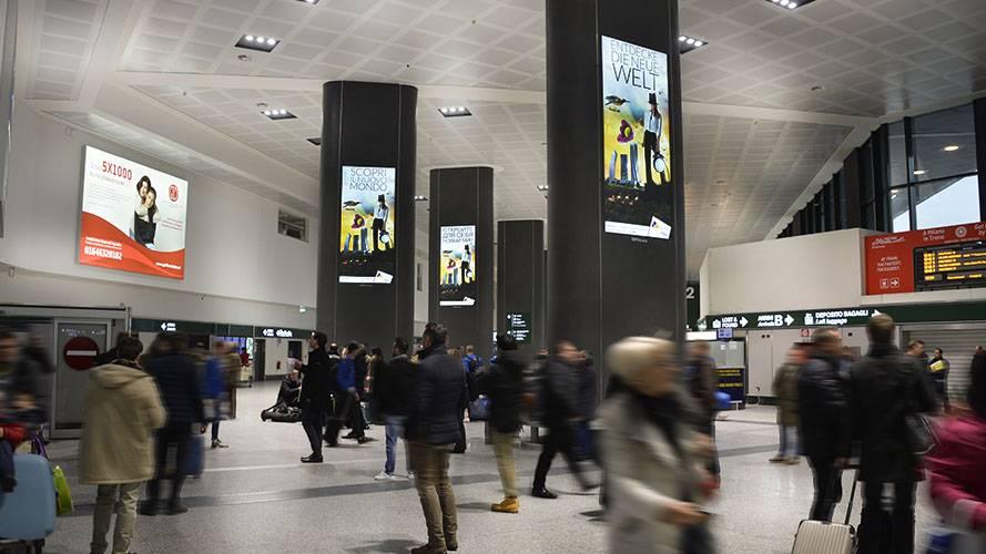 Aeroporto Malpensa pubblicità circuito a copertura IGPDecaux per CityLife Shopping District