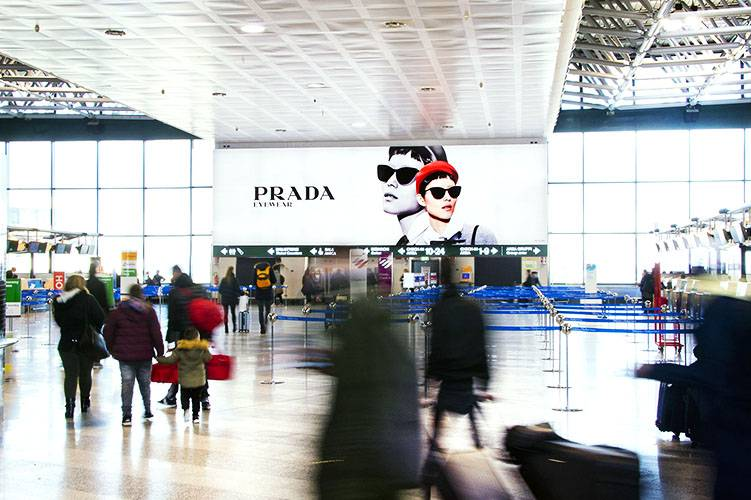 Malpensa Airport Advertising IGPDecaux Backlight for Prada