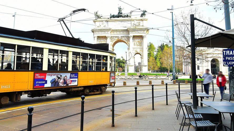 Pubblicità Milano IGPDecaux Side Banner per RDS
