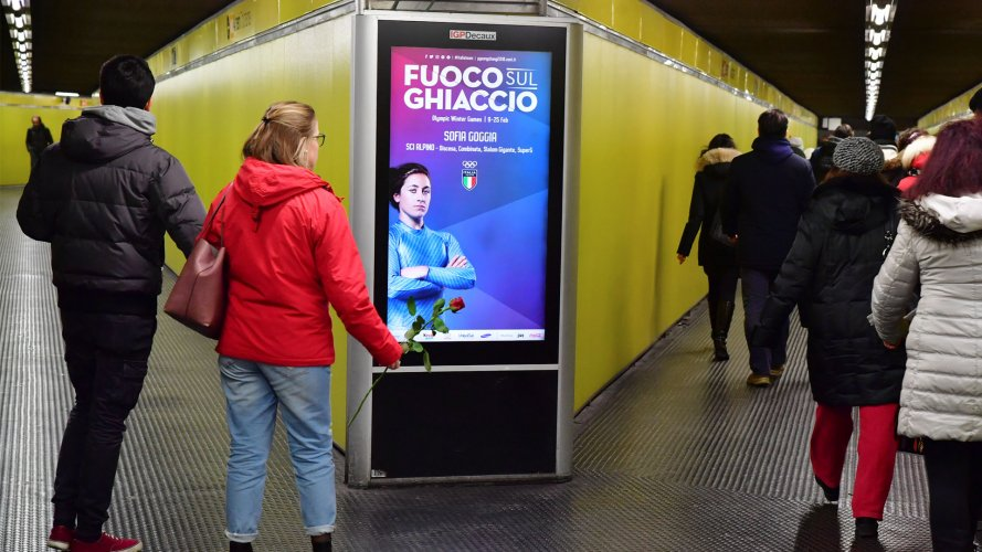 OOH IGPDecaux Underground Vision Network in Milan for Olimpiadi