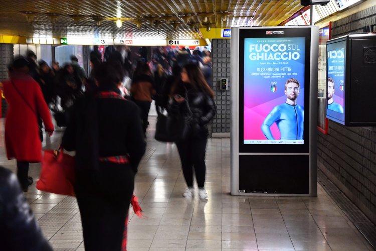 IGPDecaux Milan Underground Vision Network for Olimpiadi