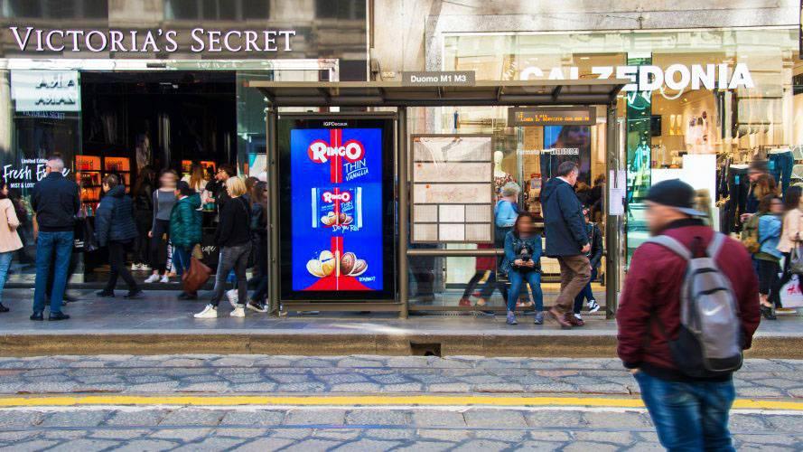 Dooh media IGPDecaux Milan Vision Network for Ringo