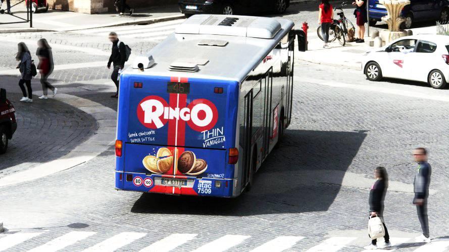 Pubblicità Roma IGPDecaux FullBack per Ringo