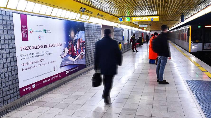 Pubblicità Out of Home IGPDecaux circuito phygital a Milano per il Salone della Cultura