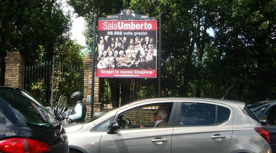Out Of Home advertising IGPDecaux 1 to 5 Sheet Panels in Rome for Umberto Sala